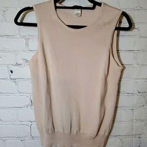 Henri Bendel Classic Tan Sleeveless Career Sweater